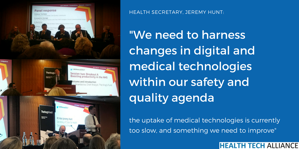 Kings Fund Annual Conference: Jeremy Hunt tells Health Tech Alliance 'uptake of medical technologies is too slow'