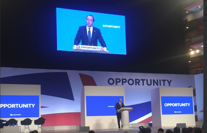 Conservative Party Conference – Hancock pledges to continue championing tech