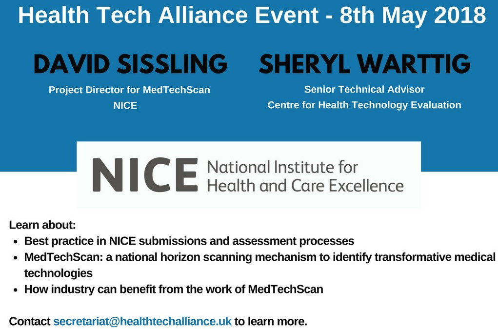 Health Tech Alliance Meeting: NICE and MedTechScan