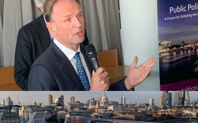 Simon Stevens looks to the future at the Public Policy Project's Summer Reception